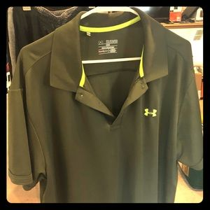 Olive Green Under Armour shirt